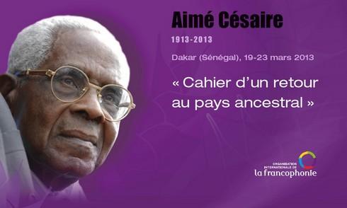 Hommage à Aimé CESAIRE photo prise sur le site www.francophonie.org