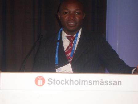 Danny MBUYI à la semaine internationale de l'Eau à Stockholm Aout 2012.