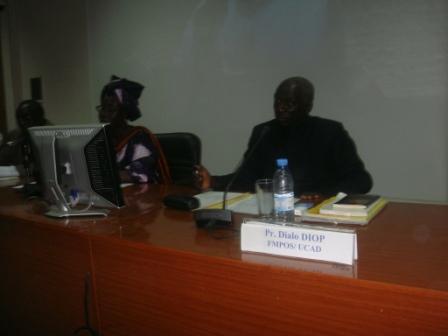 Panel lors de la journée du parrain à lUniversité Cheikh Anta Diop (UCAD) à Dakar